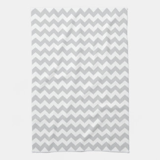 Stylish pale gray zig zags zigzag chevron pattern tea towel