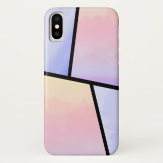 Stylish Pastel Ombre iPhone X Case