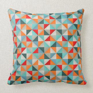 Stylish Patchwork Style Geometric Triangles Cushion