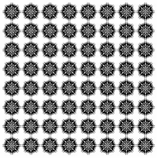 Stylish Pattern. Black and White. Photo Cut Out
