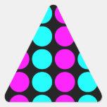 Stylish Patterns for Her : Pink & Cyan Polka Dots Sticker