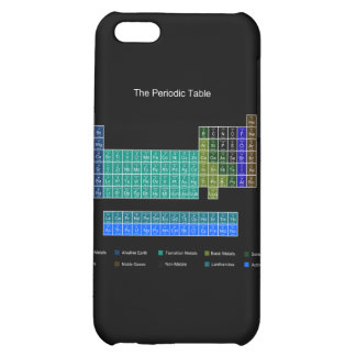 Stylish Periodic Table - Blue & Black Cover For iPhone 5C