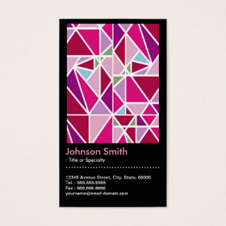 Stylish Pink Abstract Diamond Pattern QR Code Business Card