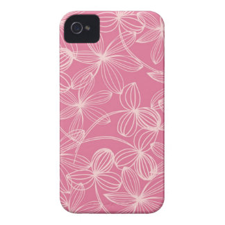 Stylish Pink Floral Pattern iPhone 4 Covers