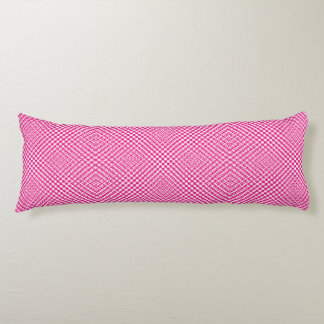 Stylish Pink Herringbone Check Patterned Body Cushion