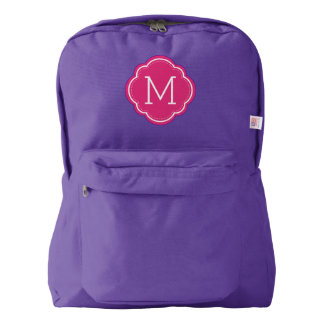 Stylish Pink Monogram Backpack
