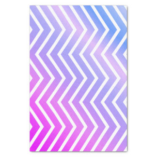 Stylish Pink Purple Blue Ombre Chevron Tissue Paper