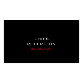 Stylish Plain Black Red Attractive Business Card