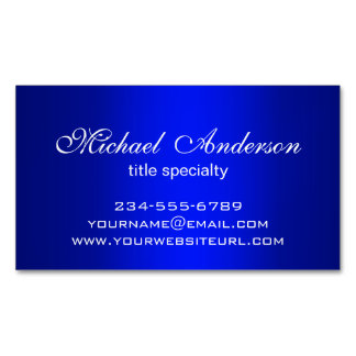Stylish Plain Blue Gradient Multiple Purpose Magnetic Business Cards