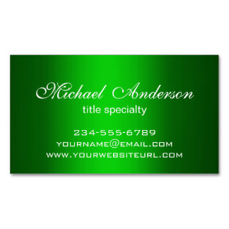Stylish Plain Green Gradient Multiple Purpose Magnetic Business Cards