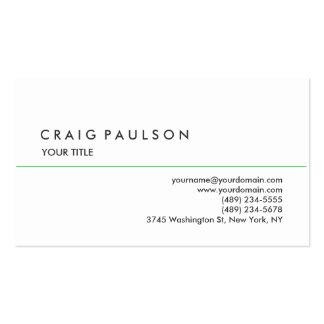 Stylish Plain White Professional Business Card