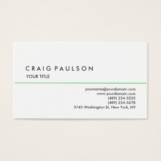 Stylish Plain White Professional Business Card
