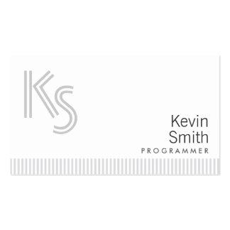 Stylish Plain White Programmer Business Card