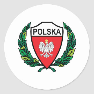 Stylish Poland Classic Round Sticker