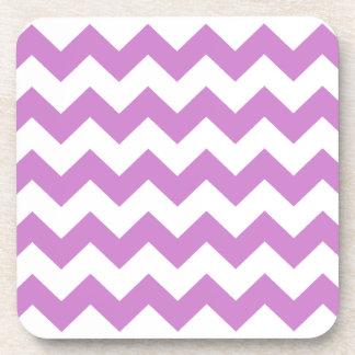 Stylish purple zig zags zigzag chevron pattern coasters