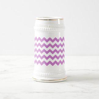 Stylish purple zig zags zigzag chevron pattern coffee mug