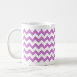 Stylish purple zig zags zigzag chevron pattern mugs