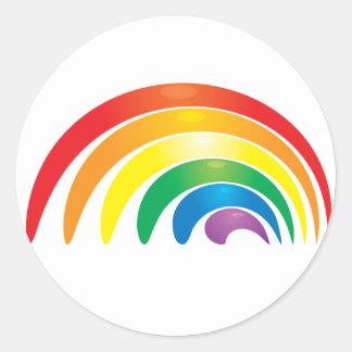 Stylish Rainbow Round Sticker