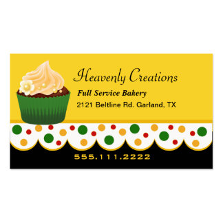 Stylish Rasta Colors Bakery Business Card