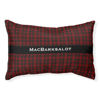Stylish Red and Black MacQueen Plaid Pet Bed