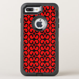 Stylish Red and Black Pattern OtterBox Defender iPhone 8 Plus/7 Plus Case