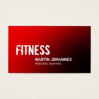 Stylish Red Black Personal Trainer Business Card