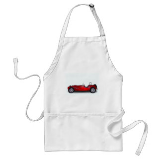 stylish red car aprons
