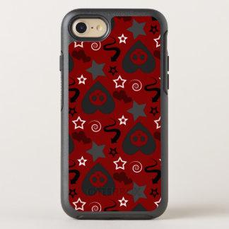 Stylish Red Girly Skull Pattern OtterBox Symmetry iPhone 8/7 Case