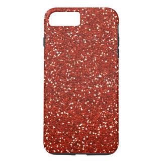 Stylish  Red Glitter iPhone 7 Plus Case