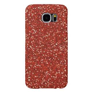 Stylish  Red Glitter Samsung Galaxy S6 Cases