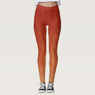 Stylish Red Ombre Pattern Leggings