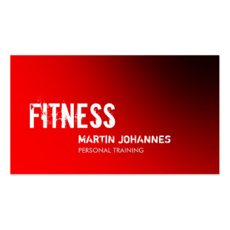 Stylish Red Personal Trainer Business Card