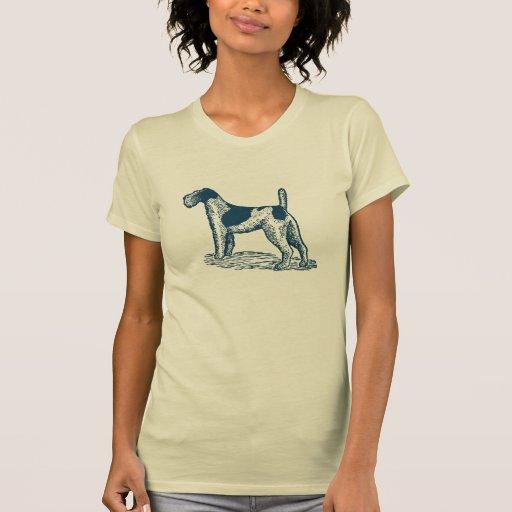 Stylish Retro Fox Terrier Tshirts