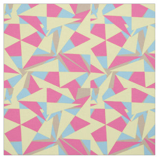 Stylish Retro Geometric Orange Pink Blue Paste Mix Fabric