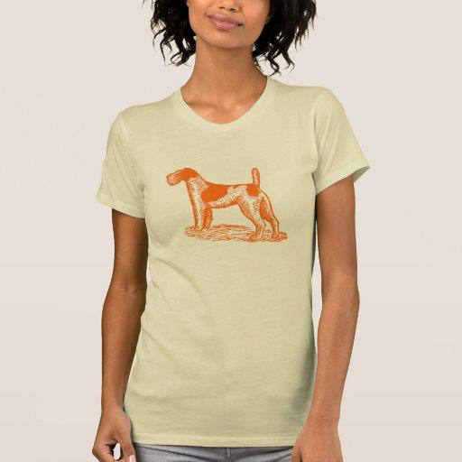 Stylish Retro Orange Fox Terrier T-shirts