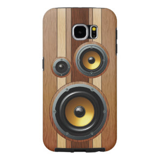 Stylish retro wood grain speakers samsung galaxy s6 cases