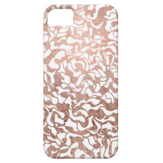 Stylish rose gold geometric hand drawn pattern case for the iPhone 5