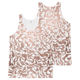 Stylish rose gold geometric modern pattern All-Over print tank top