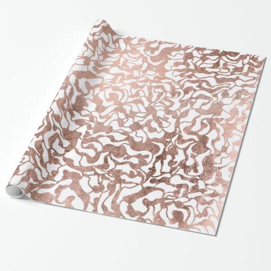 Stylish rose gold geometric modern pattern wrapping paper