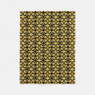 Stylish Royal Yellow Black Pattern Fleece Blanket