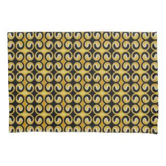 Stylish Royal Yellow Black Pattern Pillowcase