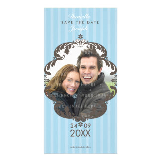 STYLISH SAVE THE DATE CARD :: flourish deluxe 1 Personalized Photo Card