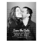 Stylish Save the Date Photo Postcard