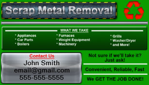 Metal recycling business cards zazzle uk stylish scrap metal removal business card reheart Choice Image