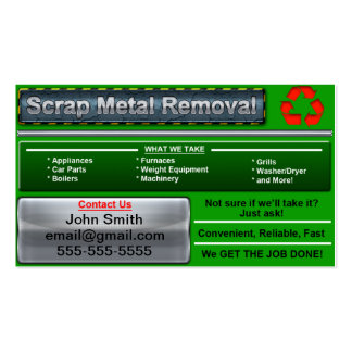 Stylish Scrap Metal Removal Business Card