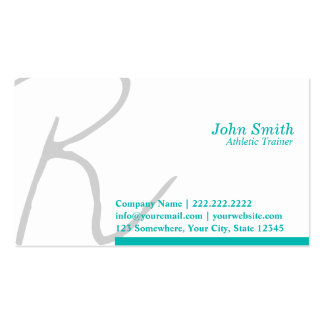 Stylish Script Athletic Trainer Business Card