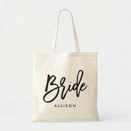 "Stylish Script ""Bride"" Personalised"