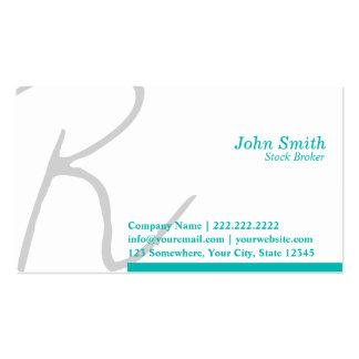 Stylish Script Stock Broker Business Card