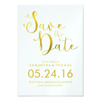 Stylish Script Wedding Save the Date Card