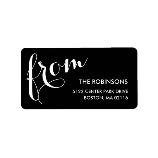 Stylish Sender Address Labels